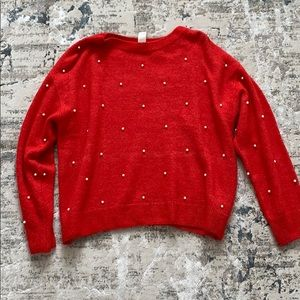 Red Pearl Sweater